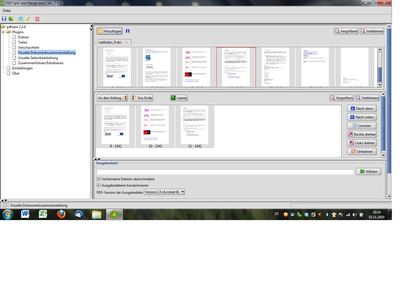 zusammenfügen pdf dateien