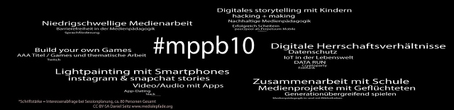 Die Themen des Medienpädagogik Praxis Camp