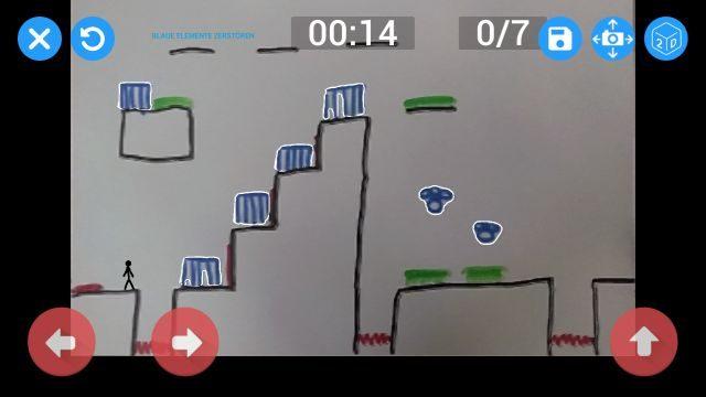 Screenshot der Spieloberfläche.
