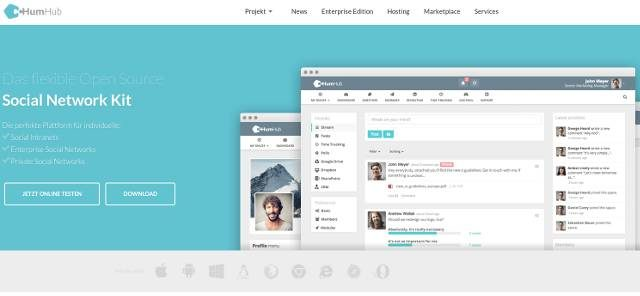 screenshot-humhub-website