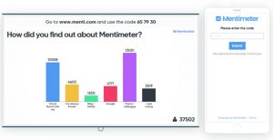Screenshot von mentimeter.com