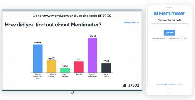 Screenshot von mentimeter.com