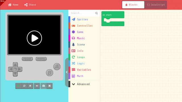 screenshot-webseite-arcade.makecode.com