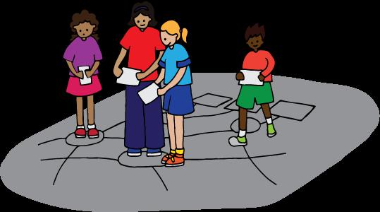 Kinder erkunden Vernetzung